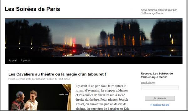 Les soirees de paris blog
