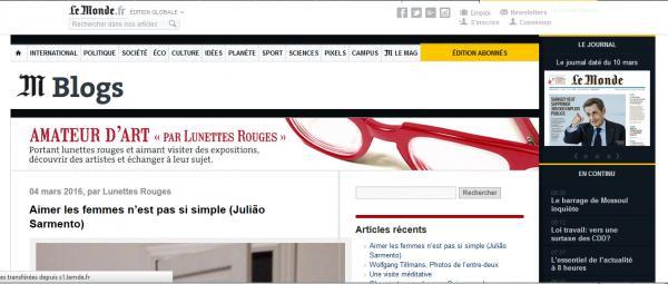 Lunettes rouges blog