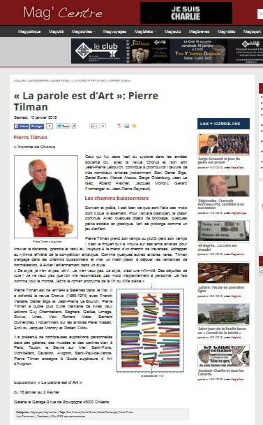 Mag centre 10 janvier 2015